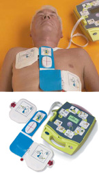 Defibrillators can be used to restart a heart